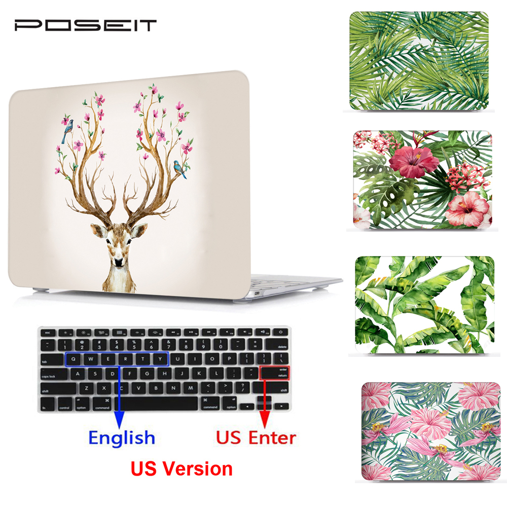 Tropical rain forest series Print Hard Case For Macbook Pro 13 15 2016 Touch bar Laptop bag Air 11 Retina 12 with Keyboard Cover image
