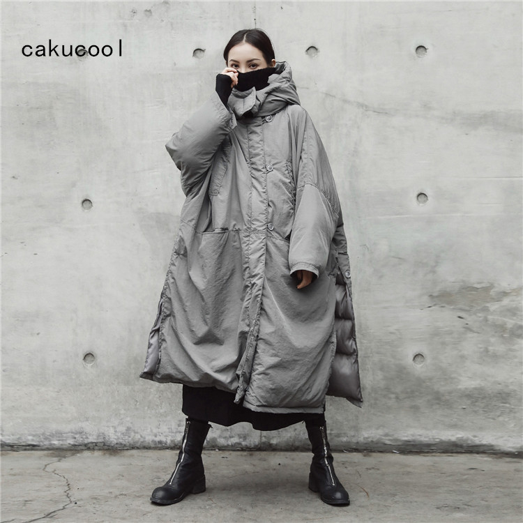 1c0f2ac7f61 Cakucool Winter Jacket Women Hooded Parka Thick Cotton Padded Thick Warm  Korean Oversize Coat Jaqueta X long Feminina Plus size