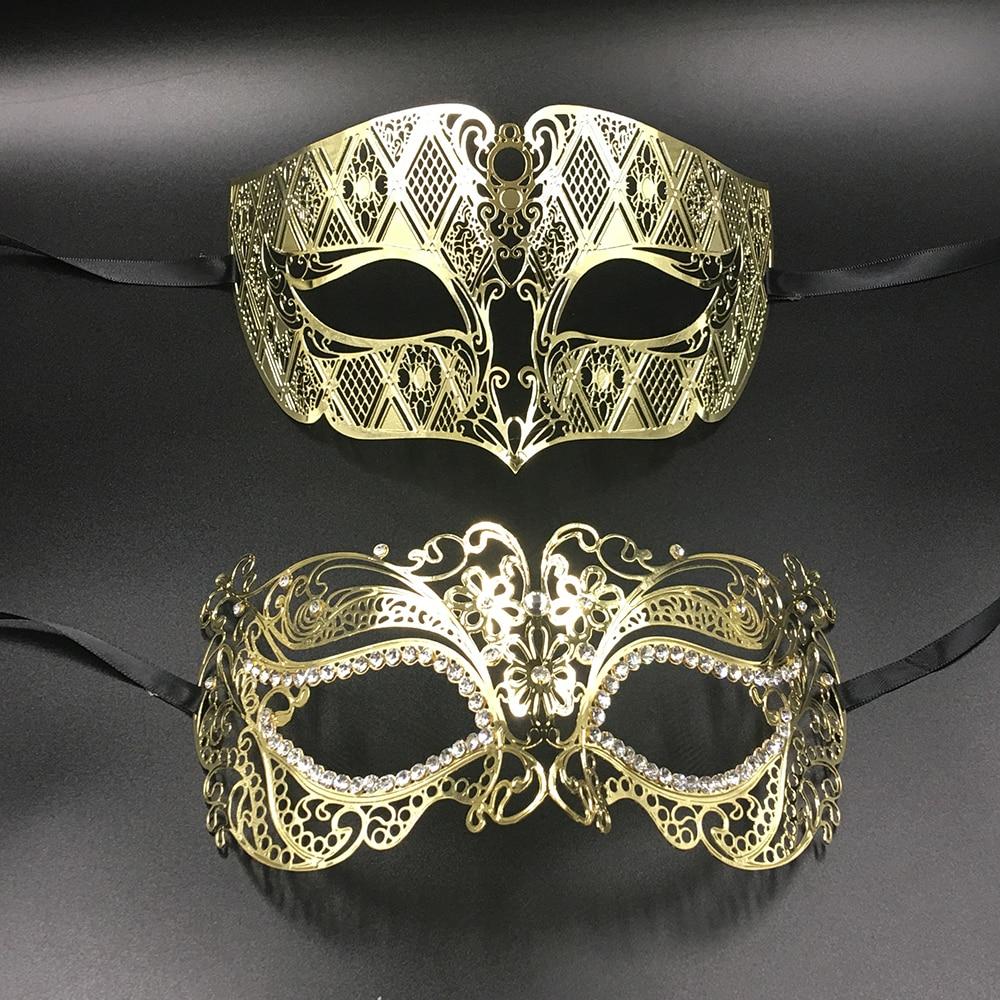 Matching Phantom Men Woman Couple Lover Venetian Masquerade Prom Mask Set