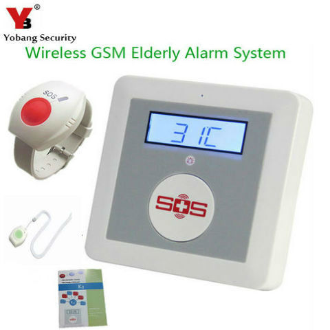 YobangSecurity Wireless GSM SMS Senior Telecare Home Security Alarm System SOS Call With Neck Wrist Emergency Panic Button 16 ports 3g sms modem bulk sms sending 3g modem pool sim5360 new module bulk sms sending device