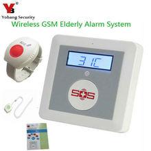 YobangSecurity Wireless GSM SMS Senior Telecare Home Security Alarm System SOS Call With Neck Wrist Emergency