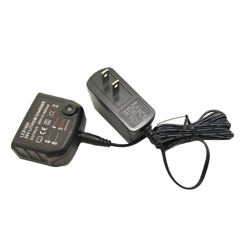 LithiumIon Battery Charger For BLACK & DECKER LCS1620 14.4V 18V 20 Volt Batteries LB20 LBX20 US/EU PLUG