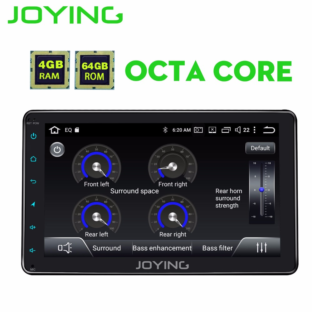 JOYING 4 gb + 64 gb 2din Autoradio HD 8 ''Écran Tactile Android 8.1 Universel Octa Core PX5 stéréo avec Bluetooth GPS Carplay RCA CFC