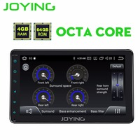 JOYING 4GB+64GB 2din Car Radio HD 8'' Touch Screen Android 8.1 Universal Octa Core PX5 stereo with Bluetooth GPS Carplay RCA SWC