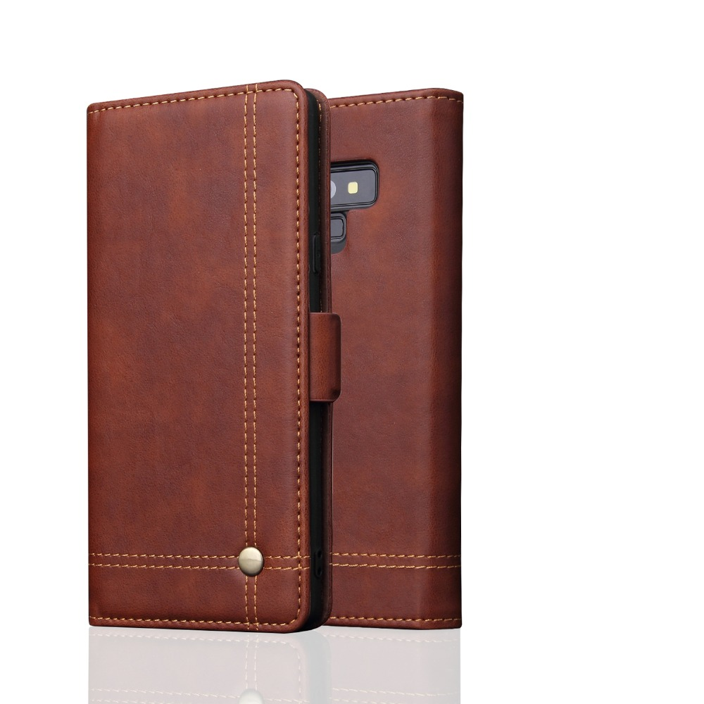 Vintage Leather Case For Samsung Galaxy Note 9 Case High Quality Luxury Flip PU Wallet Cover For Samsung Note9 Retro Cover Stand