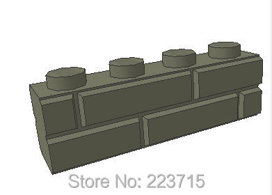 *Brick 1x4 with Embossed brick * DIY enlighten block brick part No. 15533, Compatible With Other Assembles Particles