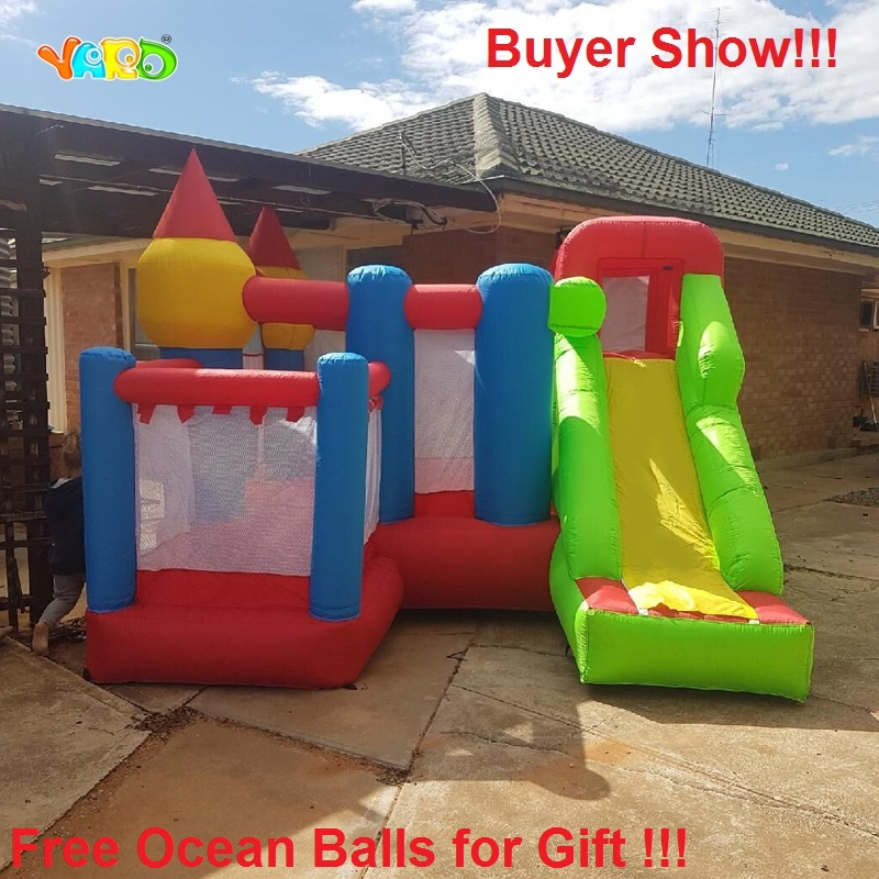 YARD Home Use Inflatable Bouncer Kids Bouncy Castle Bounce House for Party Events Special Gift Ocean Balls for Gift giant super dual slide combo bounce house bouncy castle nylon inflatable castle jumper bouncer for home used