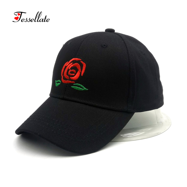 097a76a84b5f4 dropshipping Roses Men Women Baseball Caps Spring Summer Sun Hats for Women  Solid Snapback Cap Wholesale Dad Hat