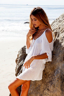 New Woman Beach Dress swimwear cover up Sexy Swimwear Summer White Beach Cover up Dress Swimsuit Katfan Tunic Hotsale 2