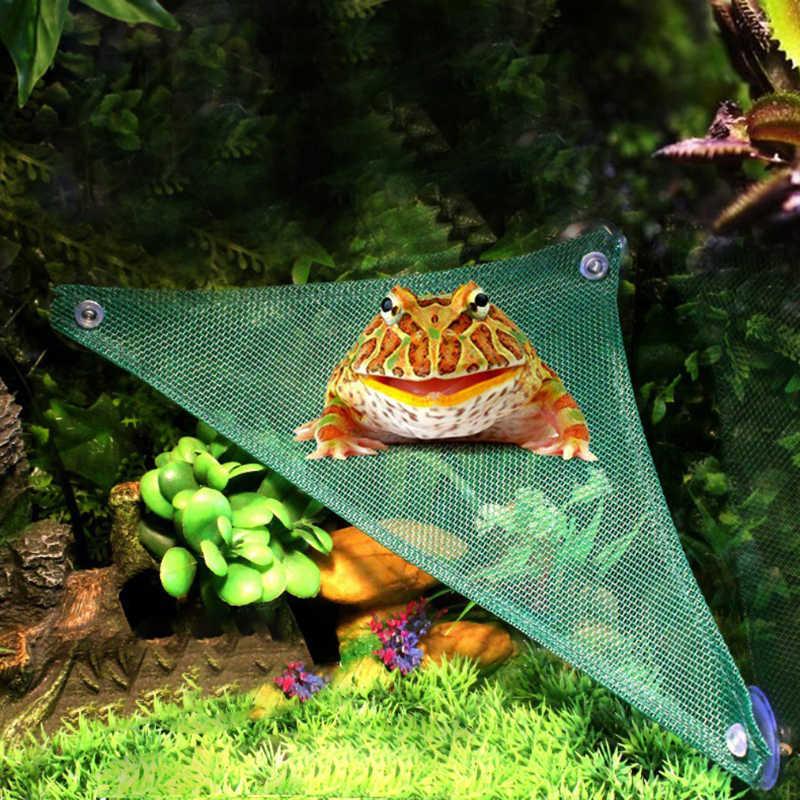 Подвесная койка для животных лежак сетки рептилия, Змея Ящерица спальный кровать играть игрушки-качели Оксфорд тканевый гамак для рептилий с присоской