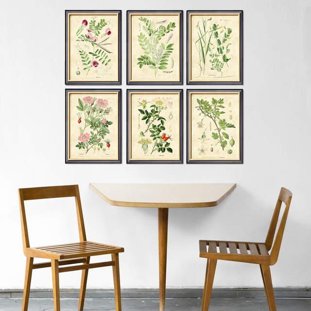 US $7.54 8% OFF|Bean Wall Art Kitchen Wall Decor Vegetarian Wall Art, 6 in  1 set Vegetables Wall Art Vegan Decor Garden Kitchen Print unframed-in ...