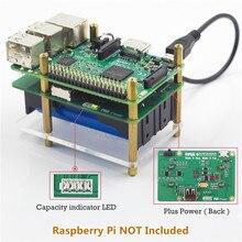 SunFounder Raspberry Pi 4000 мАч 5 В 2A литиевых Батарея Мощность пакет расширения доска-плюс Мощность модуль для Raspberry PI 3 2 модуль B