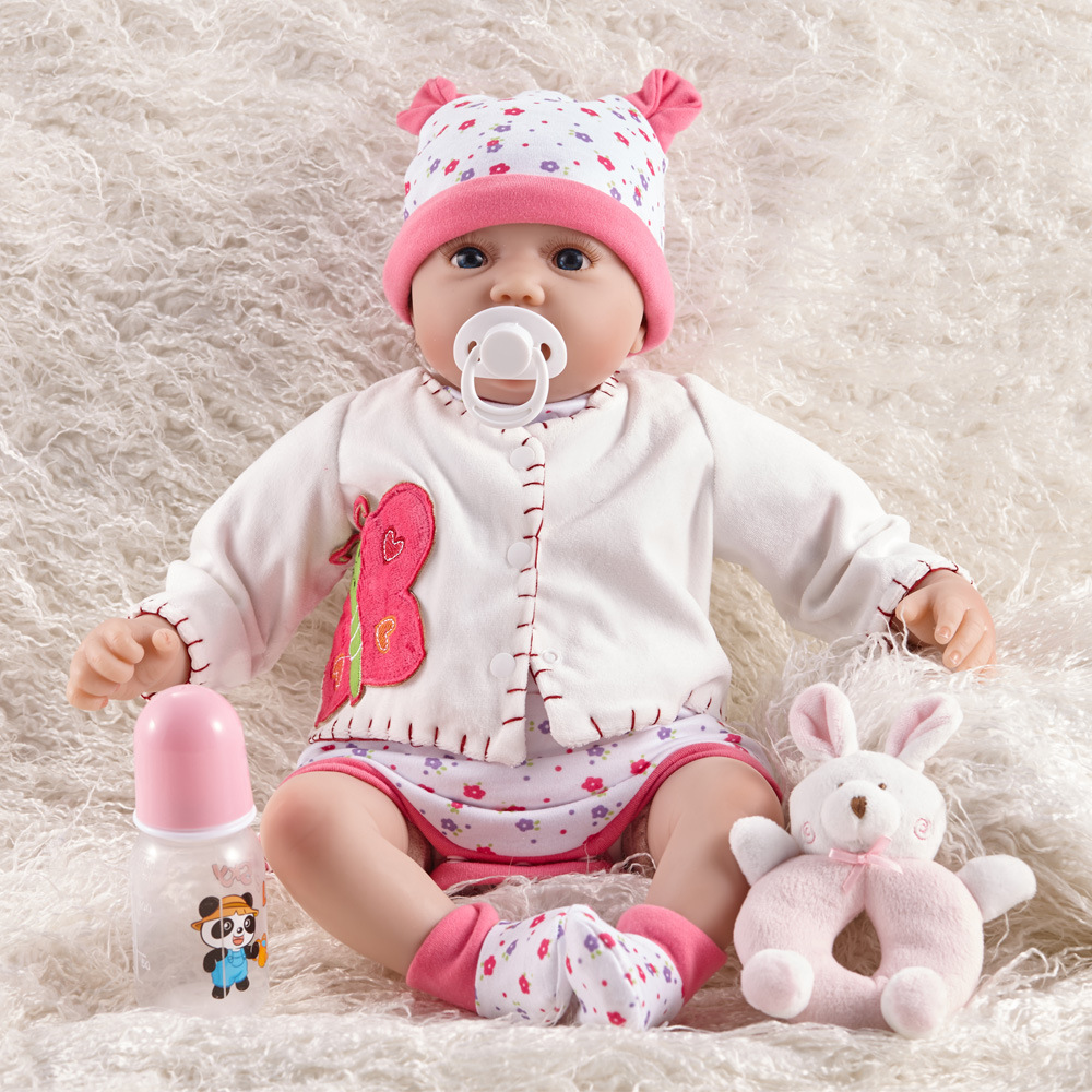 55 cm fait à la main réaliste bébé garçon poupée Silicone vinyle Reborn bambin poupées réel nouveau-né A-216