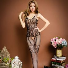 2016 New Hot sale Erotic lingerie Intimates Bodystocking Bodysuit black open crotch Sexy Lingerie Sexy Costumes for women