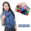 Winter Solid Scarf Scarf New Designer unisex  for spring fall Unisex Cotton Basic Shawls Package Scarves Hot Sale Shawl DS017