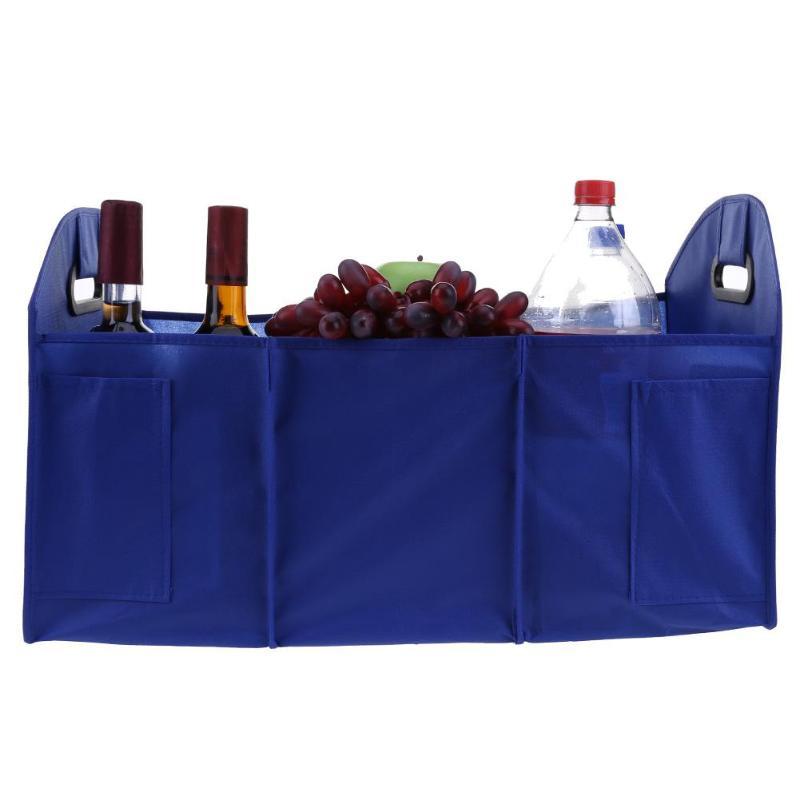 1 stück Faltbare Auto Trunk Organizer Lebensmittel Lagerung Box Container Tasche Auto Styling Verstauen Aufräumen Auto Innen Zubehör Universal
