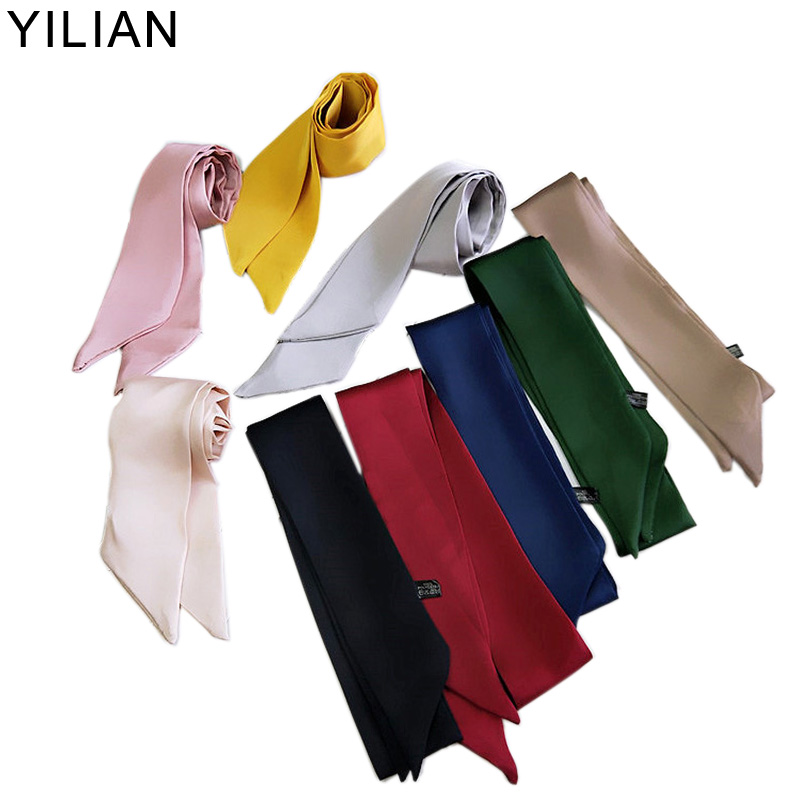 YILIAN Brand Belt Chain Print Skinny Scarf 2019 Silk Scarf For Women Fashion Head Scarf Long Handle Bag Scarves Wraps SC048