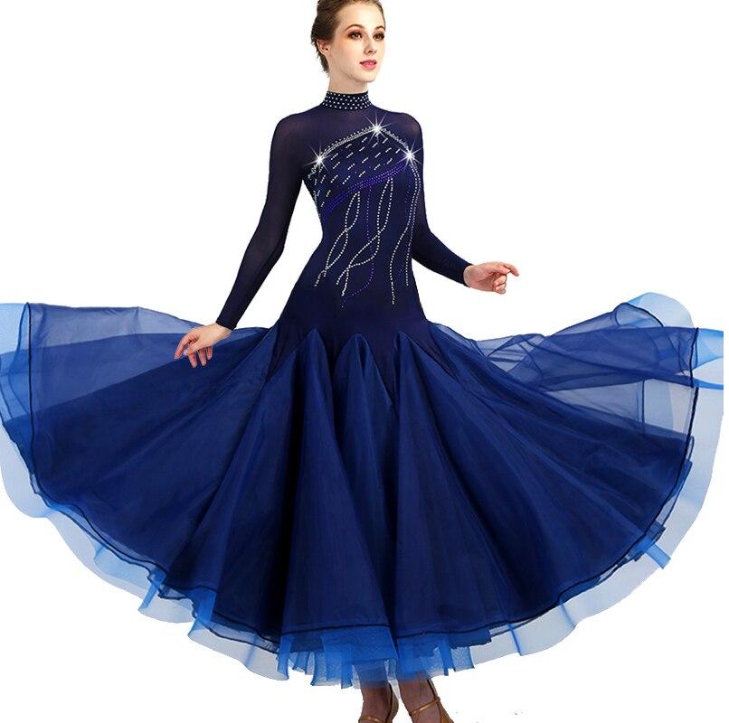 2018 robes de danse de salon femme robes de concours de danse de salon valse robe de salon standard filles femme