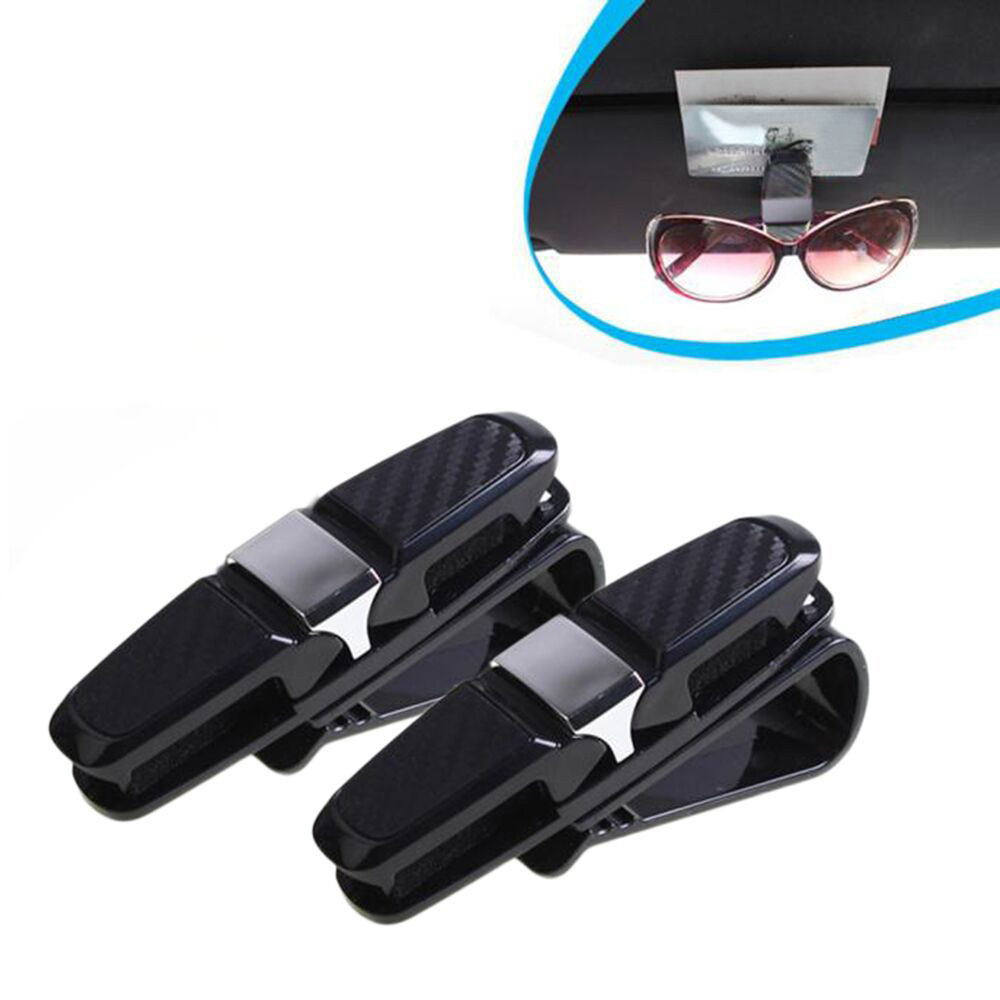 Black Auto Fastener Car Glasses Holder Auto Vehicle Visor Sunglass Eye Glasses Business Bank Card Ticket Holder Clip Support