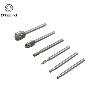 6pcs Dremel Rotary Tools Mini Drill Bit Set Cutting HSS Routing Router Grinding Bits Milling Cutters for Wood Carving Tool cutting tool