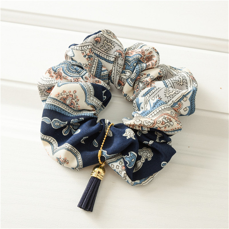 Girl's Accessories Apparel Accessories New Arrival Leaves Elastic Hair Bands Ponytail Rope Headdress Vintage Tassel Hair Rope Scrunchy Leaf Women Hair Accessories Always Buy Good