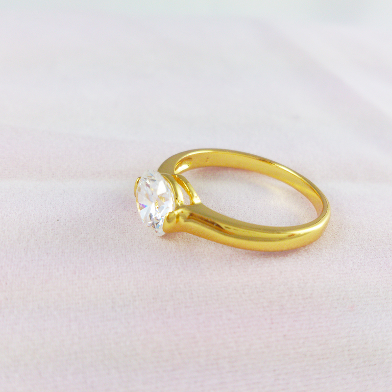 Gr004 High Quality Cz Diamond Rock Wedding Ring 24k Gold Plated Rings Engagement For Men And Women Exquisite Craft In From Jewelry