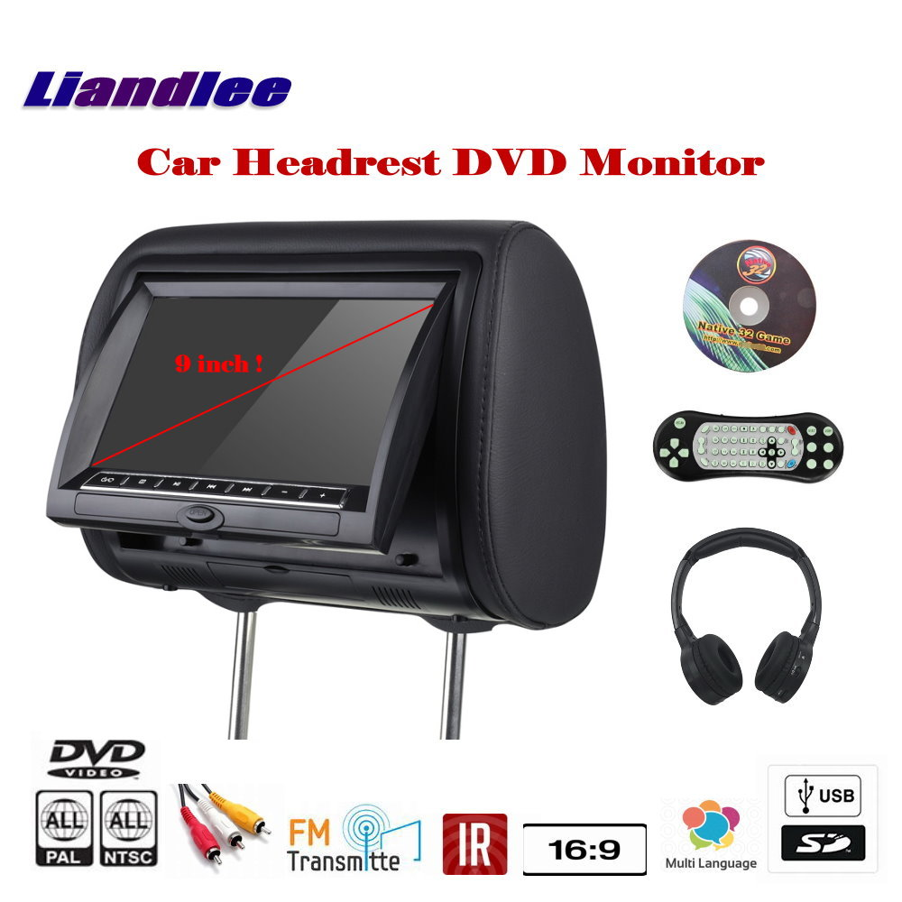 9 inch Car Headrest DVD Player / Headrest Head Rest Restraints Pillow TFT LED Monitor Screen Back Seat Game Entertainment System fz999 9 inch hd car dvd game player car headrest monitor pillow