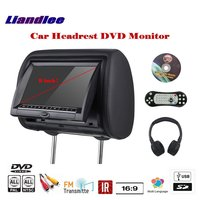 9 inch Car Headrest DVD Player / Headrest Head Rest Restraints Pillow TFT LED Monitor Screen Back Seat Game Entertainment System