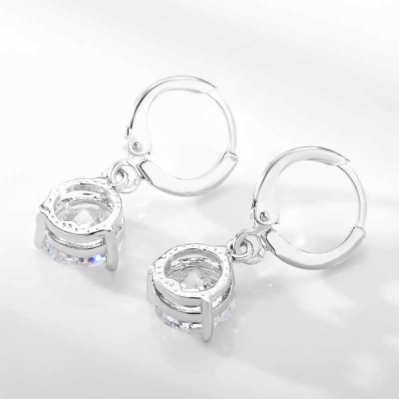 CARSINEL 21 Цвета комплекты украшений для женщин круглый фианит Гипоаллергенное медное ожерелье/серьги Ювелирные наборы оптом