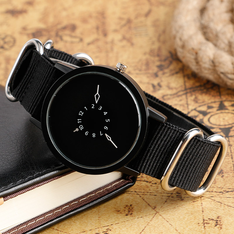 Quartz-watch Black Nylon Strap Wrsitwatch Fashion Casual Simple Wrist Watch Men Sports Outdoor Clock Women Time Gift small watyer booster pump reorder rate up to 80