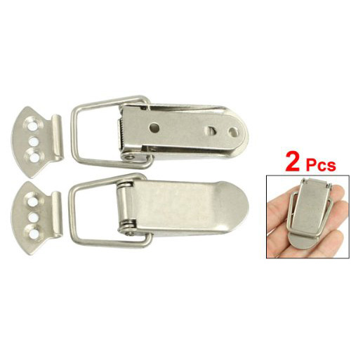SODIAL(R) 2 Pcs Steel Spring Toggle Draw Latch Catch for Cases Boxes Chests