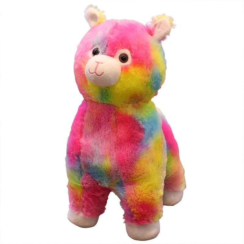 Enfant océan arc-en-ciel alpaga Animal poupée herbe-boue cheval alpaga laine rong wan ju la société réunion annuelle cadeau peut facture