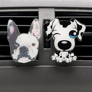 Image 2 - Auto Outlet Parfum Schattige Puppy Hond Automobiles Luchtverfrisser Auto Ornament Effen Geur Airconditioner Outlet Clip Auto Decor