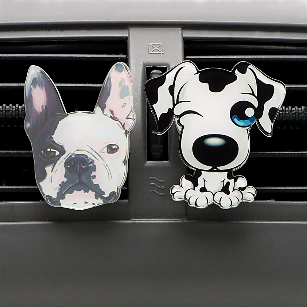 Image 2 - Car Outlet Perfume Cute Puppy Dog Automobiles Air Freshener Car Ornament Solid Fragrance Air Conditioner Outlet Clip Auto Decor-in Air Freshener from Automobiles & Motorcycles