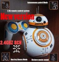 2.4 GHZ 8CH atualização de versão de Star Wars 7 RC BB-8 BB8 BB 8 inteligente de controle remoto rc robot Action Figure brinquedo