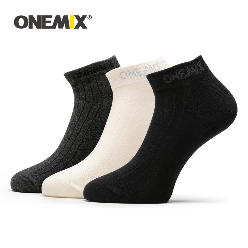 ONEMIX 1 Pair Unisex Sports Running Socks 2020 Comfortable Breathable Cotton Men Indoor socks Sneakers Basketball Socks 3 Color