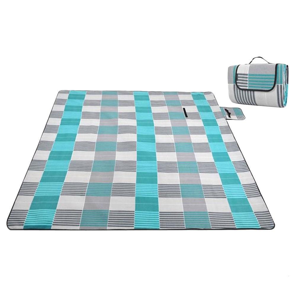 Фланелевые пижамы для детей 6 лет, коврик для кемпинга одеяло для улицы складной кемпинг первой помощи коврики для пикника твердый питомник коврики туристический коврик газон напольный коврик - Цвет: blue and gray