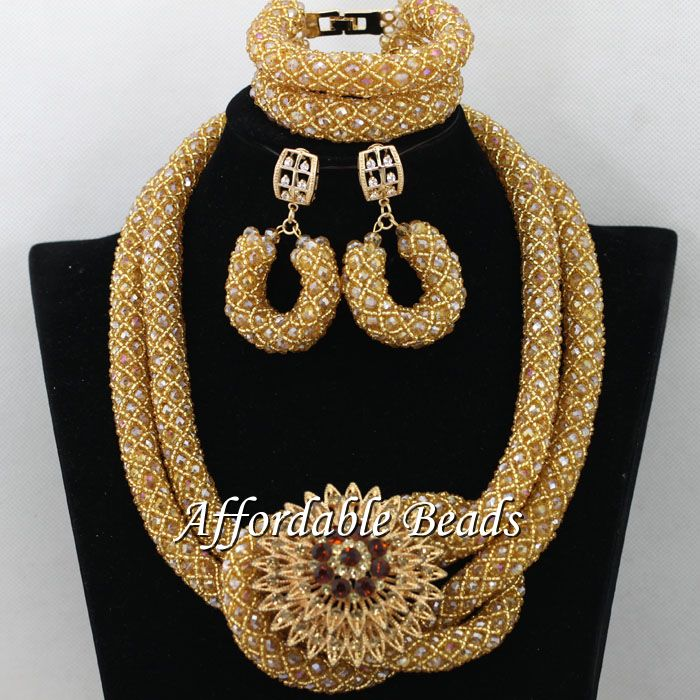 Beads For African Wedding Hot Sale Nigerian Bridal Jewelry Set ...
