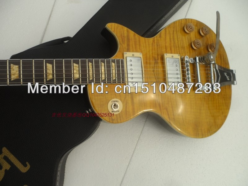 FREE SHIPPING G LP standard slash OEM brand with big tremolo/maple flame top ELECTRIC GUITAR/guitar in china ноутбук lenovo legion y520 15ikbn core i7 7700hq 8gb 1tb nv gtx1050 4gb 15 6 fullhd win10 black