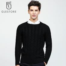 Glestore 2017 New Mens Pullover O-neck Full Sleeve Striped Knitting Patterns Men Sweaters Brand-clothing Cashmere Sweater Men