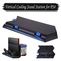 [Upgraded]Vertical Stand with 2 Cooling Fans, Cooler Fan Game Holder Dual Controllers Game Charging Station with USB Hub for PS4