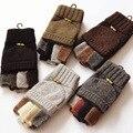 2016 Winter Fashion Men Gentleman Gloves Cashmere Warm Wool Mittens Half Finger Glove Luvas Feminina Wrist Warmers