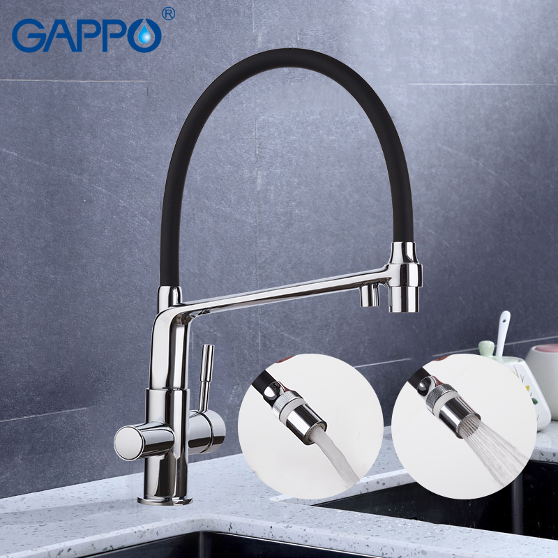 GAPPO Kitchen Faucet Sink Taps Waterfall Griferia Rotated Flexible Kitchen Faucet Mixer Water Mixer De Cozinha Taps