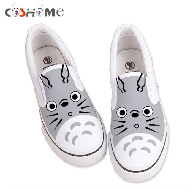 Kids pintado dibujos de Totoro Coshome zapatos lona de nuevo niños fxpS5wq 40ba16cab8c9