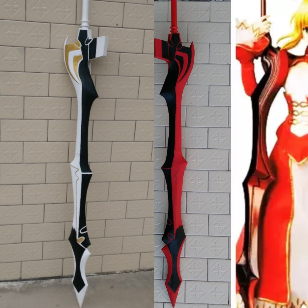 ANIME FATE STAY NIGHT ZERO EXTRA SABRE NERO SABER PVC LARP SWORD RED BLACK COLOUR LENGTH 150CM