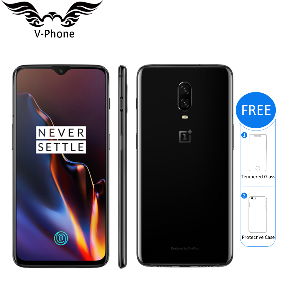 """Oneplus 6T 128GB Mobile Phone Snapdragon 845 Octa Core 6.41"""" Dual Camera Screen Unlock NFC Android Smartphone-in Cellphones from Cellphones & Telecommunications    1"""