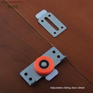 Image 1 - Free shipping door pulley door furniture door wardrobe cabinets slip sliding bearing sliding door fittings with adjustable heigh
