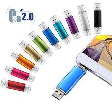Smartphone USB Flash Drive OTG Pen Drive 64gb Pendrive 32GB OTG External Storage Creative USB Memory Stick Android Flash Drive