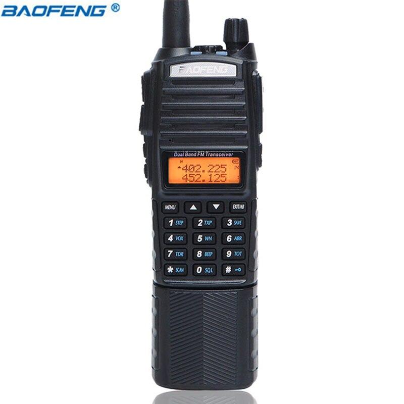 Baofeng UV-82 Plus Talkie Walkie 8 W Puissant 3800 mAh DC Connecteur Batterie UV82 Double PTT Band Transceiver Amateur BF UV 82 Radio