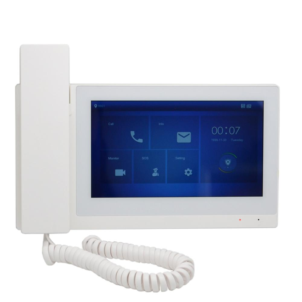 DH Logo VTH5221E/EW-H 7inch Touch Indoor Monitor,IP Doorbell,Handheld, Video Intercom,wired Doorbell